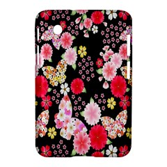 Flower Arrangements Season Rose Butterfly Floral Pink Red Yellow Samsung Galaxy Tab 2 (7 ) P3100 Hardshell Case  by Alisyart