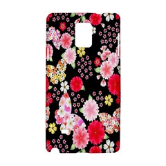 Flower Arrangements Season Rose Butterfly Floral Pink Red Yellow Samsung Galaxy Note 4 Hardshell Case