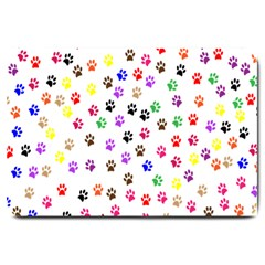 Paw Prints Background Large Doormat