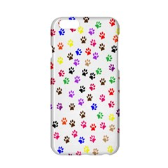 Paw Prints Background Apple Iphone 6/6s Hardshell Case by Amaryn4rt