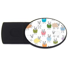 Sheep Cartoon Colorful Usb Flash Drive Oval (2 Gb) by Amaryn4rt