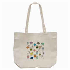 Sheep Cartoon Colorful Tote Bag (cream) by Amaryn4rt