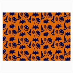 Witch Hat Pumpkin Candy Helloween Blue Orange Large Glasses Cloth by Alisyart