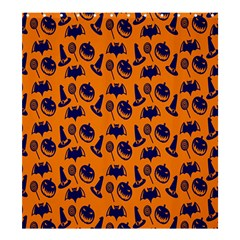 Witch Hat Pumpkin Candy Helloween Blue Orange Shower Curtain 66  X 72  (large)  by Alisyart