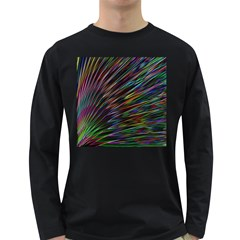 Texture Colorful Abstract Pattern Long Sleeve Dark T Shirts