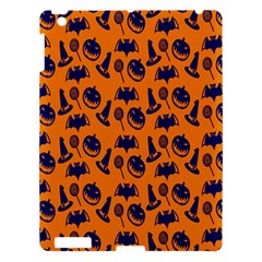 Witch Hat Pumpkin Candy Helloween Blue Orange Apple Ipad 3/4 Hardshell Case
