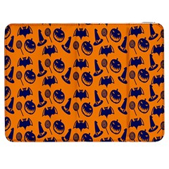 Witch Hat Pumpkin Candy Helloween Blue Orange Samsung Galaxy Tab 7  P1000 Flip Case