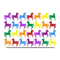 Colorful Horse Background Wallpaper Plate Mats by Amaryn4rt