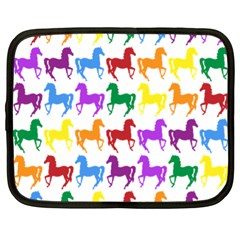 Colorful Horse Background Wallpaper Netbook Case (xl)  by Amaryn4rt
