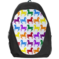 Colorful Horse Background Wallpaper Backpack Bag by Amaryn4rt