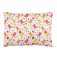Animal Pattern Happy Birds Seamless Pattern Pillow Case (two Sides) by Amaryn4rt