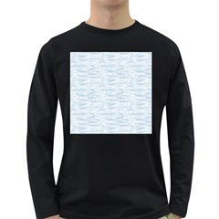 Wind Waves Grey Long Sleeve Dark T Shirts