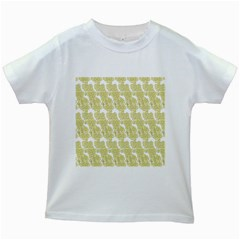 Waves Flower Kids White T Shirts