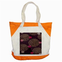 Twig Surface Design Purple Pink Gold Circle Accent Tote Bag