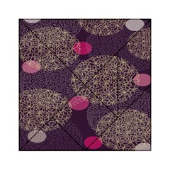 Twig Surface Design Purple Pink Gold Circle Acrylic Tangram Puzzle (6  X 6 )