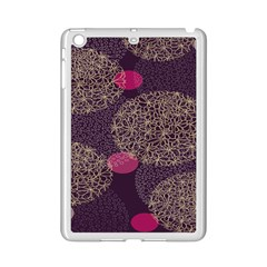 Twig Surface Design Purple Pink Gold Circle Ipad Mini 2 Enamel Coated Cases