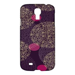 Twig Surface Design Purple Pink Gold Circle Samsung Galaxy S4 I9500/i9505 Hardshell Case