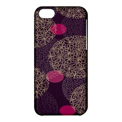 Twig Surface Design Purple Pink Gold Circle Apple Iphone 5c Hardshell Case