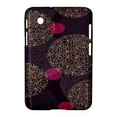 Twig Surface Design Purple Pink Gold Circle Samsung Galaxy Tab 2 (7 ) P3100 Hardshell Case