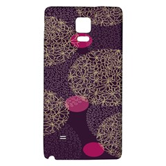 Twig Surface Design Purple Pink Gold Circle Galaxy Note 4 Back Case by Alisyart