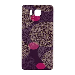 Twig Surface Design Purple Pink Gold Circle Samsung Galaxy Alpha Hardshell Back Case
