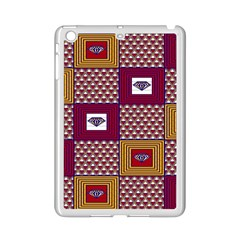 African Fabric Diamon Chevron Yellow Pink Purple Plaid Ipad Mini 2 Enamel Coated Cases