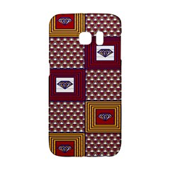 African Fabric Diamon Chevron Yellow Pink Purple Plaid Galaxy S6 Edge by Alisyart