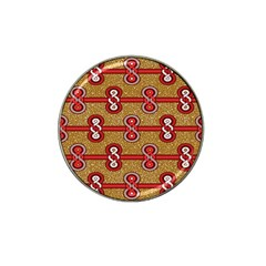 African Fabric Iron Chains Red Purple Pink Hat Clip Ball Marker (10 Pack) by Alisyart