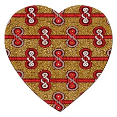 African Fabric Iron Chains Red Purple Pink Jigsaw Puzzle (heart)