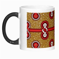 African Fabric Iron Chains Red Purple Pink Morph Mugs by Alisyart