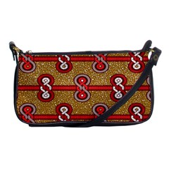 African Fabric Iron Chains Red Purple Pink Shoulder Clutch Bags