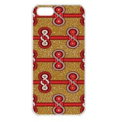 African Fabric Iron Chains Red Purple Pink Apple Iphone 5 Seamless Case (white) by Alisyart