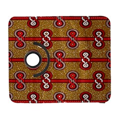 African Fabric Iron Chains Red Purple Pink Galaxy S3 (flip/folio)