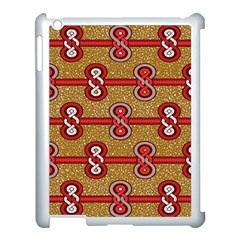 African Fabric Iron Chains Red Purple Pink Apple Ipad 3/4 Case (white)