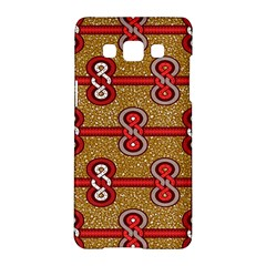 African Fabric Iron Chains Red Purple Pink Samsung Galaxy A5 Hardshell Case  by Alisyart