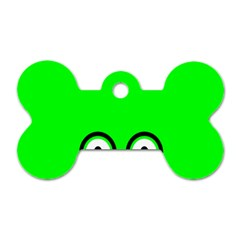 Animals Frog Face Green Dog Tag Bone (one Side)