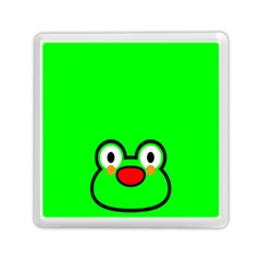 Animals Frog Face Green Memory Card Reader (square)
