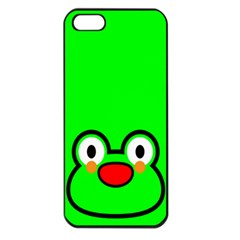 Animals Frog Face Green Apple Iphone 5 Seamless Case (black)