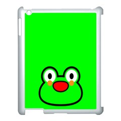 Animals Frog Face Green Apple Ipad 3/4 Case (white)