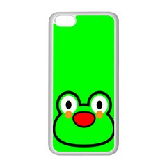 Animals Frog Face Green Apple Iphone 5c Seamless Case (white) by Alisyart