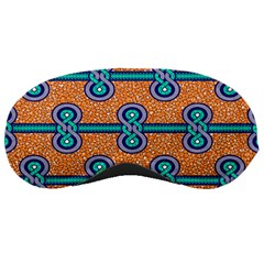 African Fabric Iron Chains Blue Orange Sleeping Masks