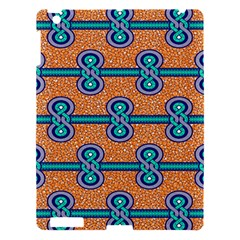 African Fabric Iron Chains Blue Orange Apple Ipad 3/4 Hardshell Case
