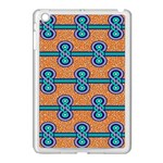 African Fabric Iron Chains Blue Orange Apple iPad Mini Case (White) Front