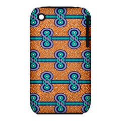 African Fabric Iron Chains Blue Orange Iphone 3s/3gs