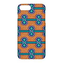 African Fabric Iron Chains Blue Orange Apple Iphone 7 Plus Hardshell Case