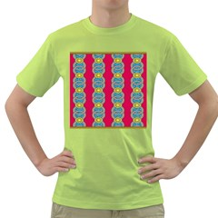 African Fabric Iron Chains Red Yellow Blue Grey Green T Shirt