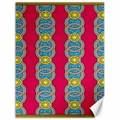 African Fabric Iron Chains Red Yellow Blue Grey Canvas 18  X 24   by Alisyart