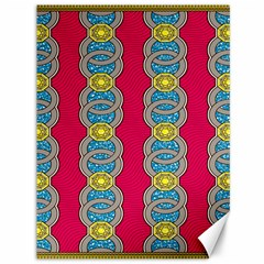 African Fabric Iron Chains Red Yellow Blue Grey Canvas 36  X 48   by Alisyart