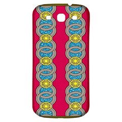 African Fabric Iron Chains Red Yellow Blue Grey Samsung Galaxy S3 S Iii Classic Hardshell Back Case