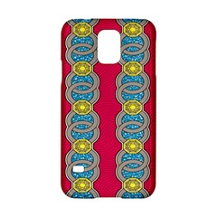 African Fabric Iron Chains Red Yellow Blue Grey Samsung Galaxy S5 Hardshell Case  by Alisyart